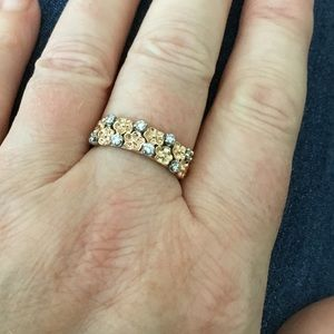Custom Vintage Diamond Floral Ring